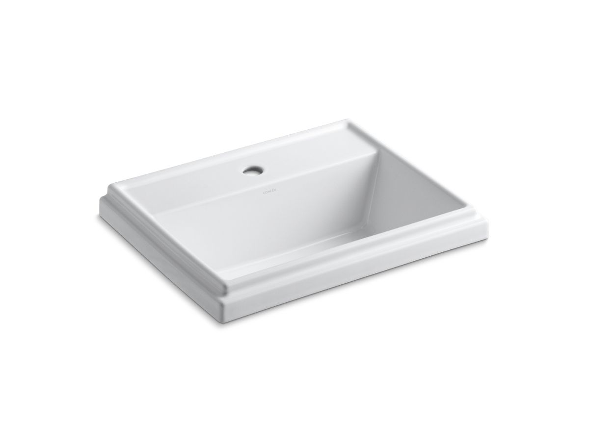 K 2991 1 Tresham Rectangular Drop In Sink With Single Faucet Hole