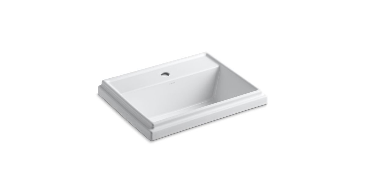 K 2991 1   Tresham Rectangular Drop In Sink with Single Faucet Hole   KOHLER. K 2991 1   Tresham Rectangular Drop In Sink with Single Faucet