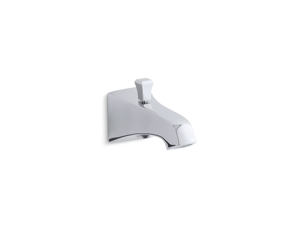 """Memoirs® Stately wall-mount 6"""" diverter bath spout with Deco lift rod   Tuggl"""