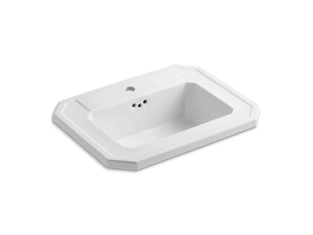 Kohler Undermount Bathroom Sinks Reviews kathryn drop-in sink with single faucet hole   k-2325-1   kohler