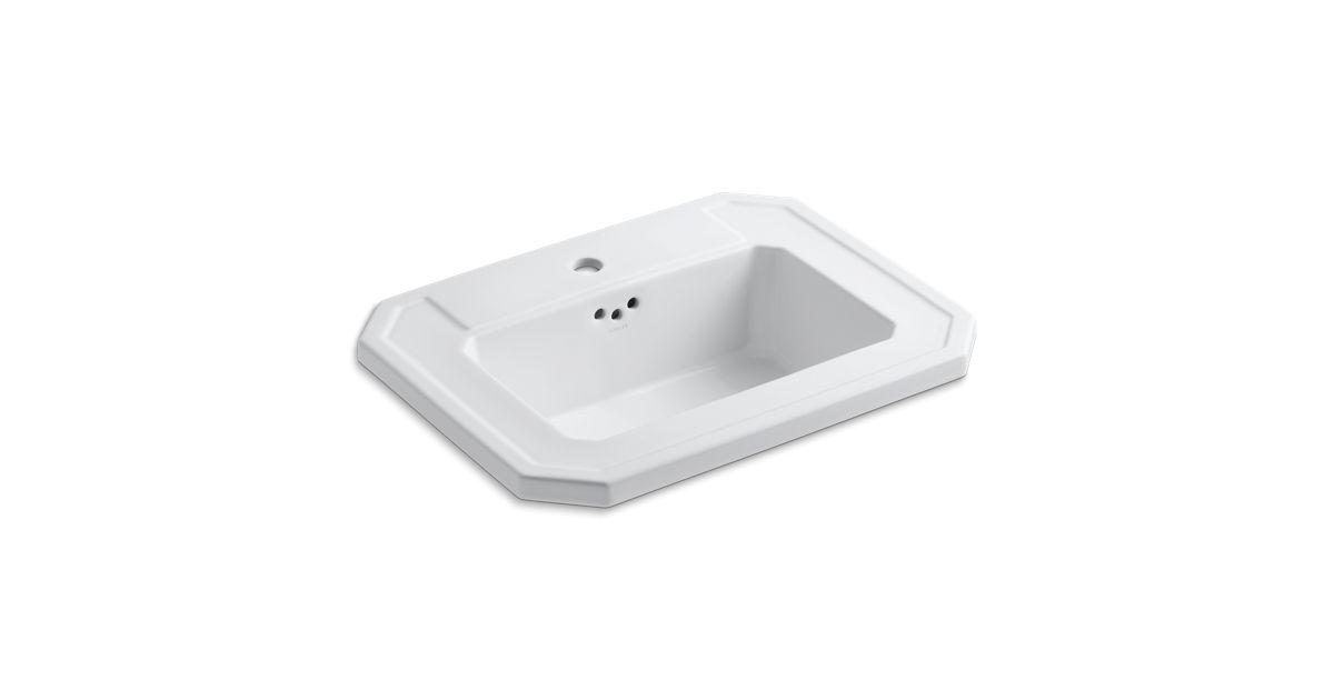K 2325 1 Kathryn Drop In Sink With Single Faucet Hole Kohler