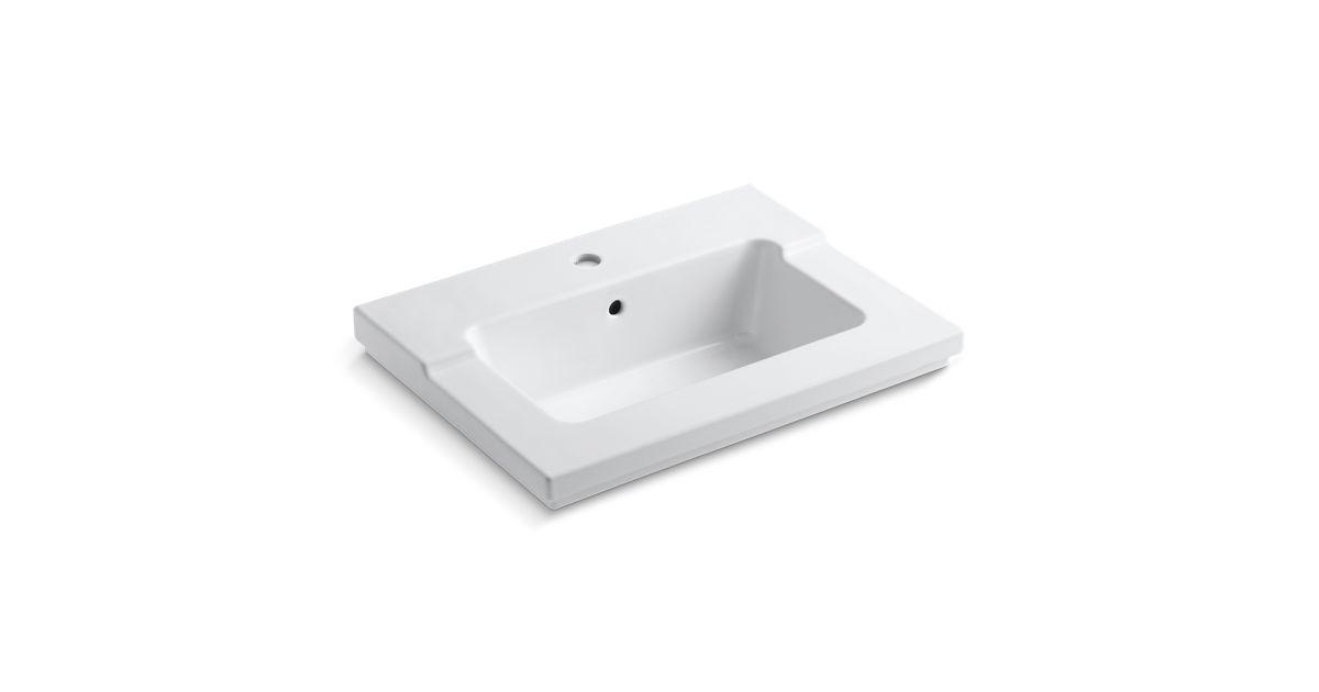 K 2979 1 Tresham One Piece Integrated Sink With Single Faucet Hole Kohler