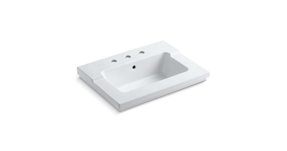 K-2979-8   Tresham One-Piece Integrated Sink with 8-Inch Widespread ...