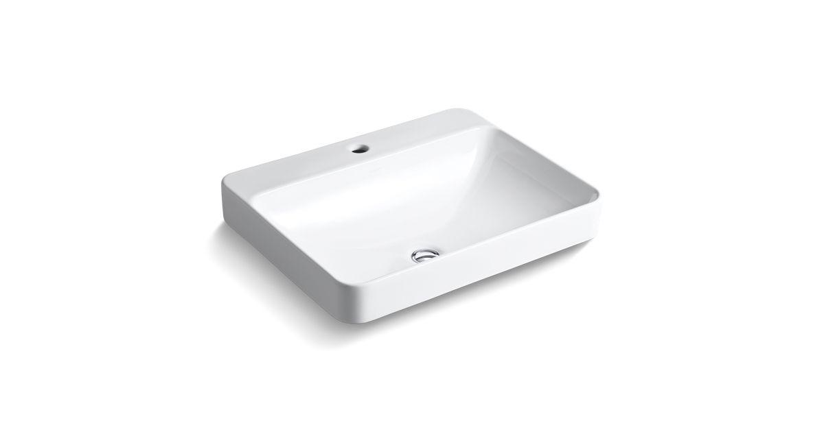 K-2660-1 | Vox Rectangle Vessel Sink with Single Faucet Hole | KOHLER