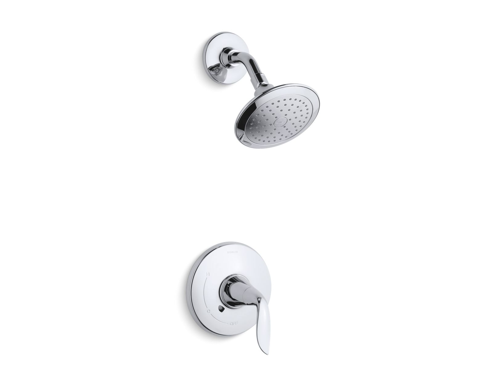 kts53204e refinia ritetemp shower valve trim with lever handle and 20 gpm showerhead kohler