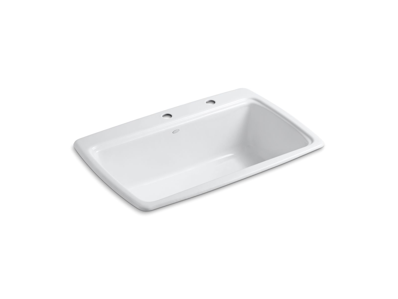 Cape Dory Top Mount Kitchen Sinks With Two Faucet Holes   K 5863 2   KOHLER