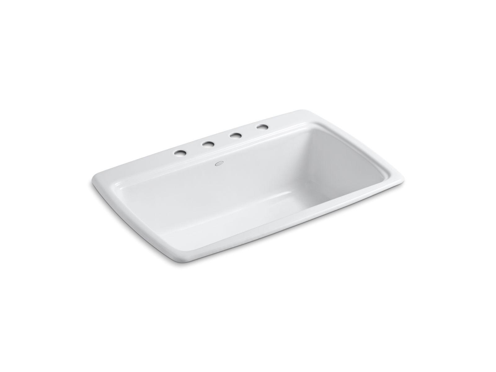 Cape Dory Top Mount Kitchen Sink With Four Faucet Holes | K 5863 4 | KOHLER