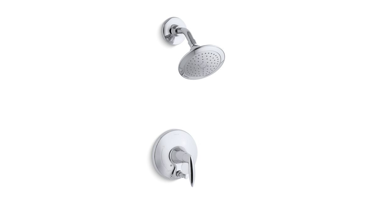 K-T45108-4 | Alteo shower trim with push-button diverter, valve not ...