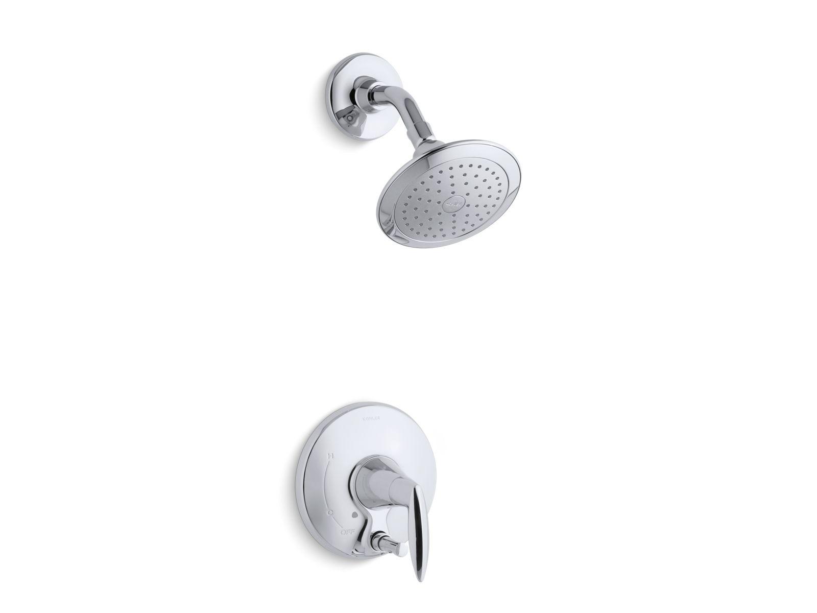 alteo shower trim with pushbutton diverter valve not included kt451084e kohler