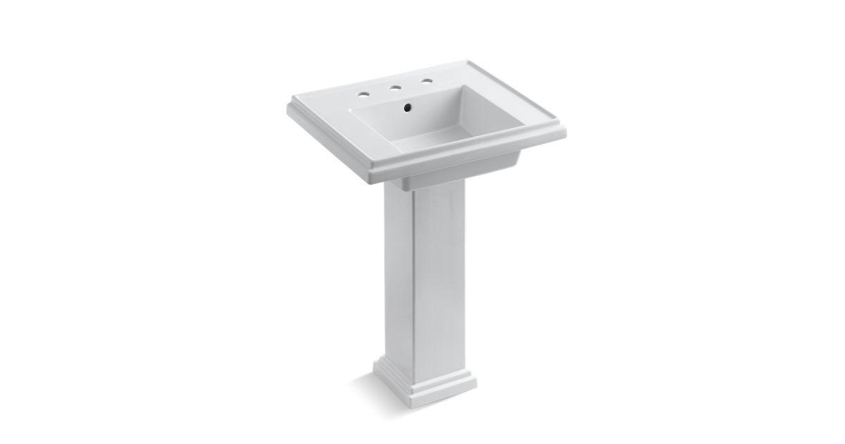 Tresham 24-Inch Pedestal Sink With 8-Inch