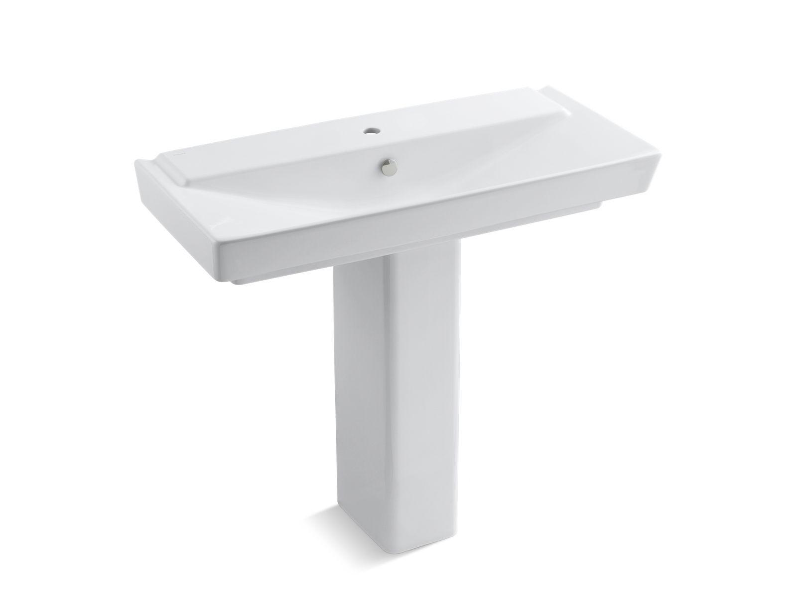 Gleaming gold bathroom kohler ideas - Kohler pedestal sinks small bathrooms ...