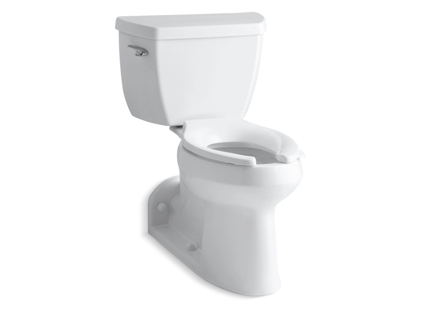 barrington comfort height twopiece elongated 10 gpf toilet with pressure lite flushing technology and lefthand trip lever k3578 kohler