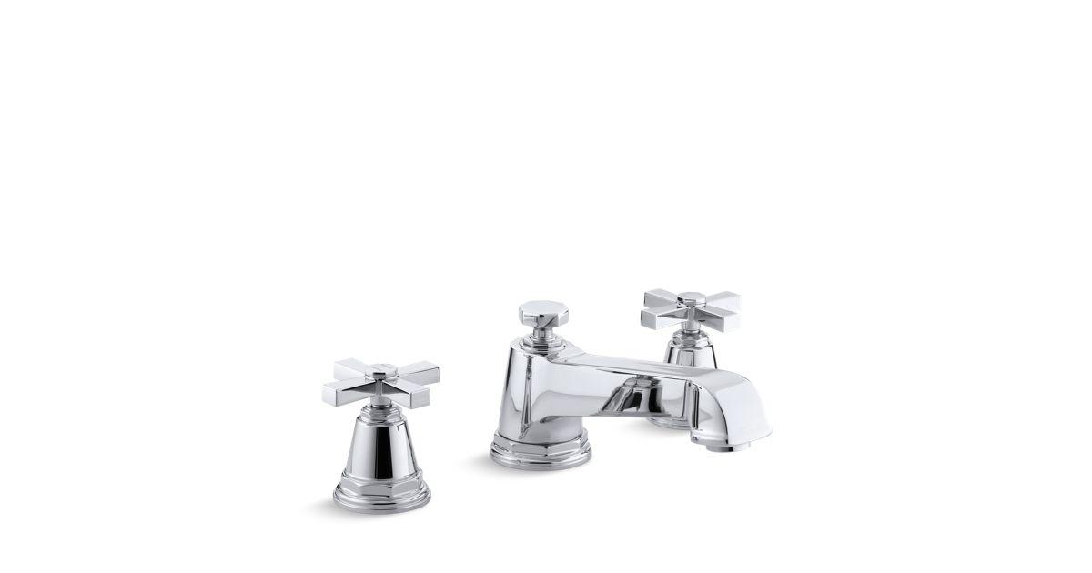 Pinstripe Pure Deck-Mount High-Flow Bath Faucet Trim | K-T13140-3A ...