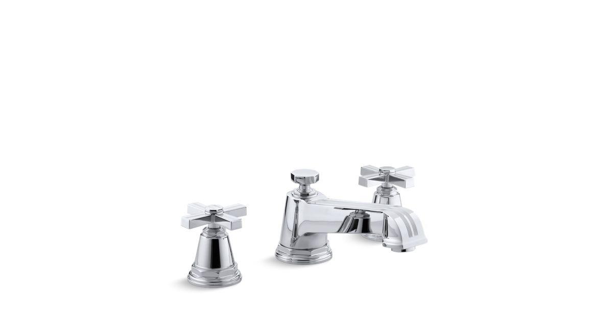 Pinstripe Deck-Mount High-Flow Bath Faucet Trim | K-T13140-3B | KOHLER