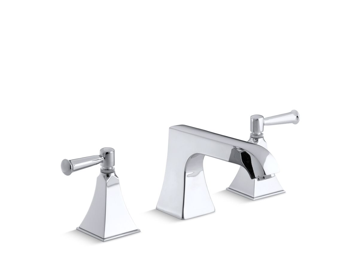 Memoirs® Stately deck-mount bath faucet trim with non-diverter spout and lever handles, valve not included | Tuggl