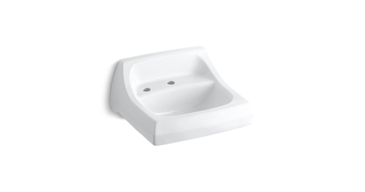 Kingston Wallmounted Or Concealed Carrier Arm Mounted Commercial - One piece bathroom sink faucet