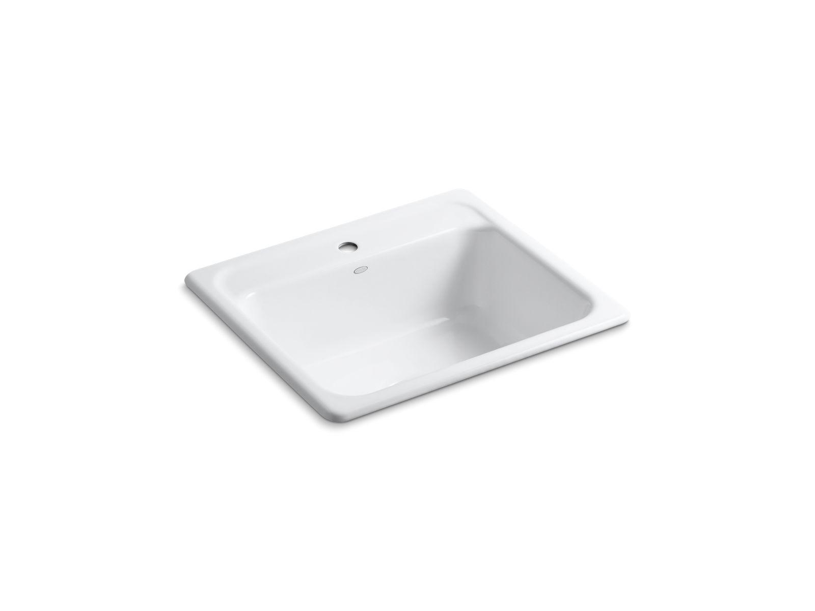 k 5964 1 mayfield top mount kitchen sink with single faucet hole rh us kohler com