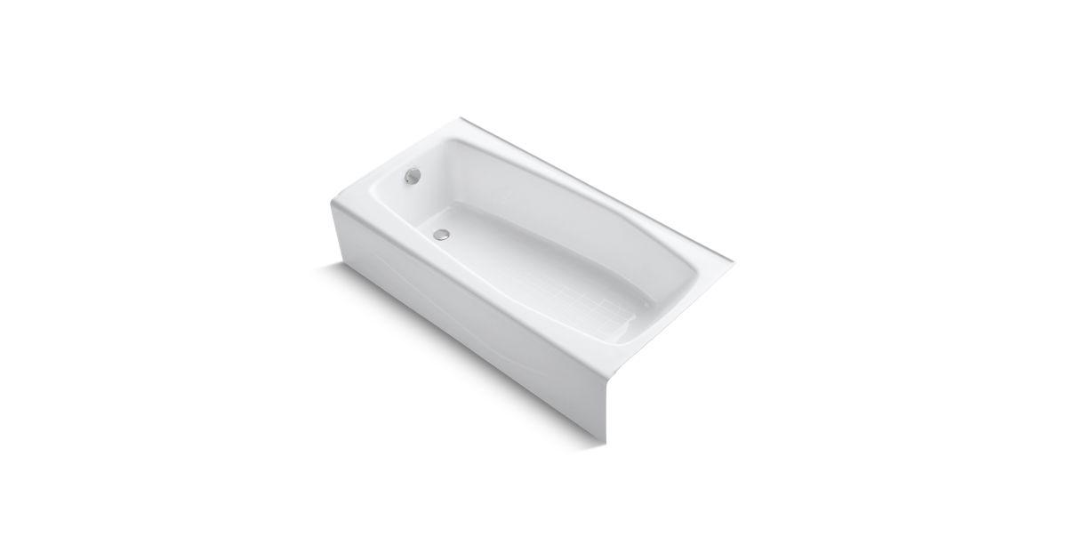 K 715 Villager 60 X 30 1 4 Alcove Commercial Bath With Left Hand Drain Kohler