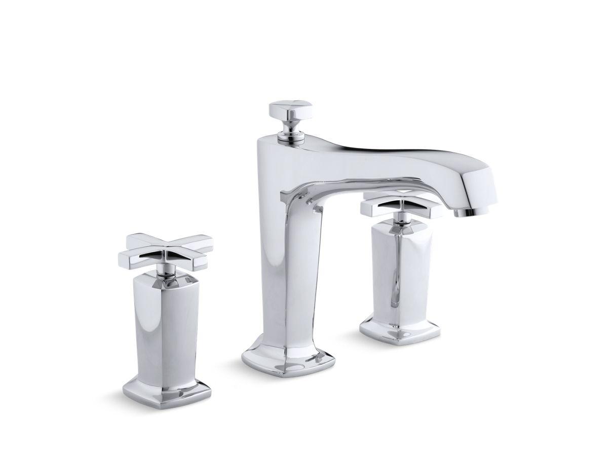 Margaux Diverter Bath Faucet Trim with Cross Handles K T16236 3