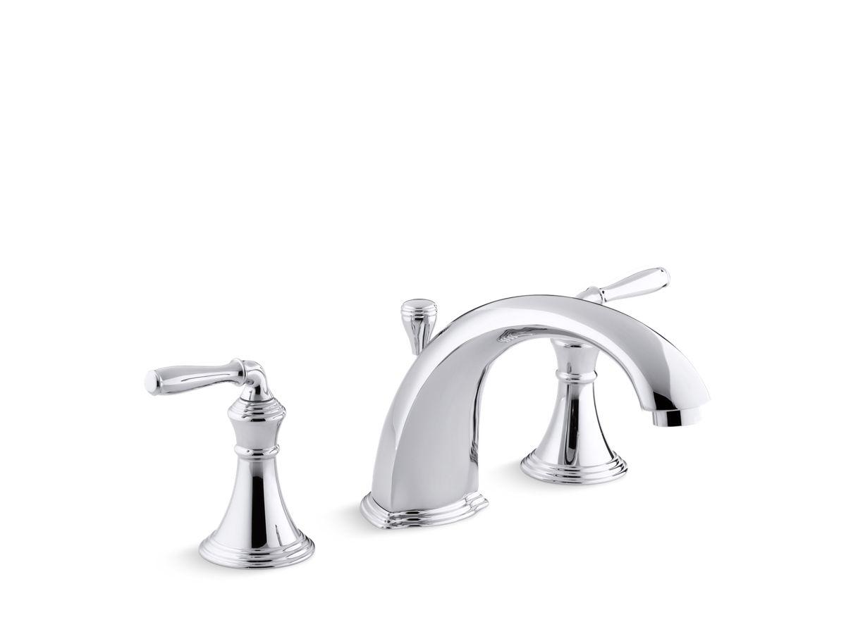 devonshire deck mount bath faucet trim with lever handles k t387