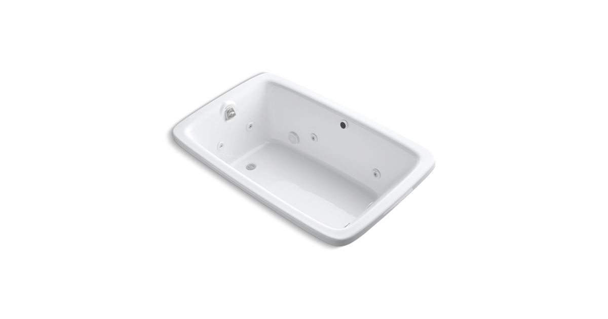 Bancroft 5.5-Foot Whirlpool Bath with Integral Heater | K-1158-H2 ...