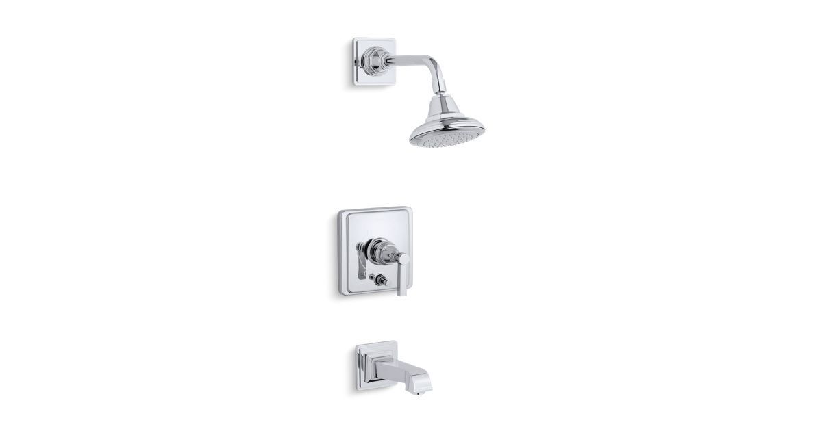 K-T13133-4A | Pinstripe Bath and Shower Faucet Trim with Pure Design ...