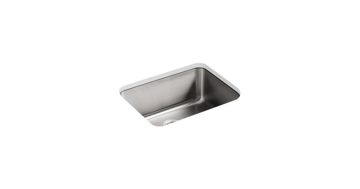 coated kitchen sink k 3325 undertone 23 x 17 12 x 9 1316 medium squared under