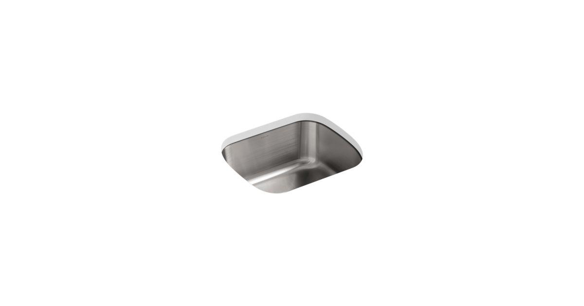 Undertone Square Under-Mount Kitchen Sink | K-3184 | KOHLER