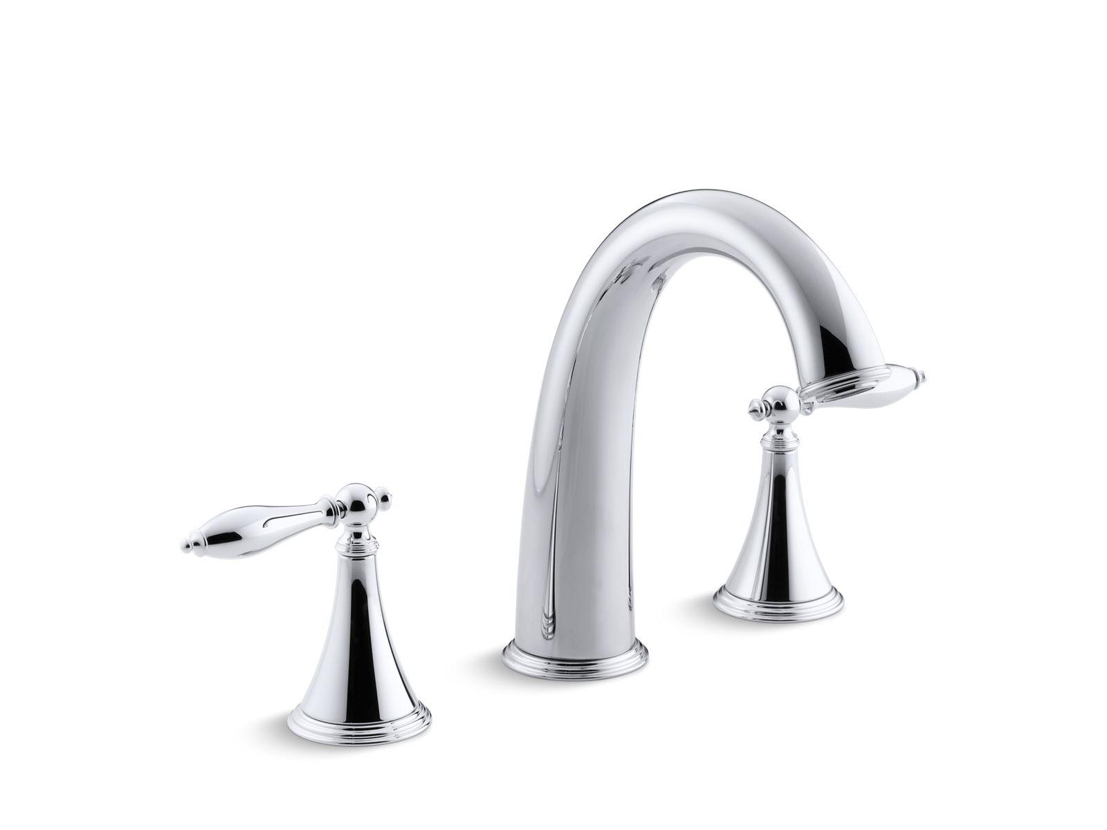 finial traditional deckmount highflow bath faucet trim kt3144m kohler - Kohler Bathroom Faucets