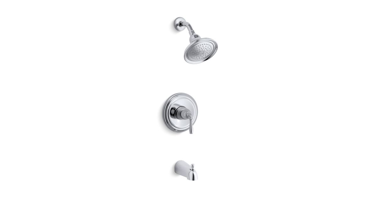 K-TS395-4SE | Devonshire® Rite-Temp® bath and shower valve trim with ...