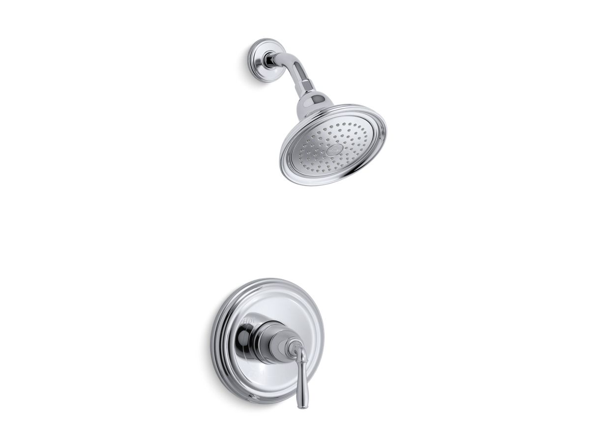 Devonshire® Rite-Temp® shower valve trim with lever handle and 2.0 gpm showerhead   Tuggl