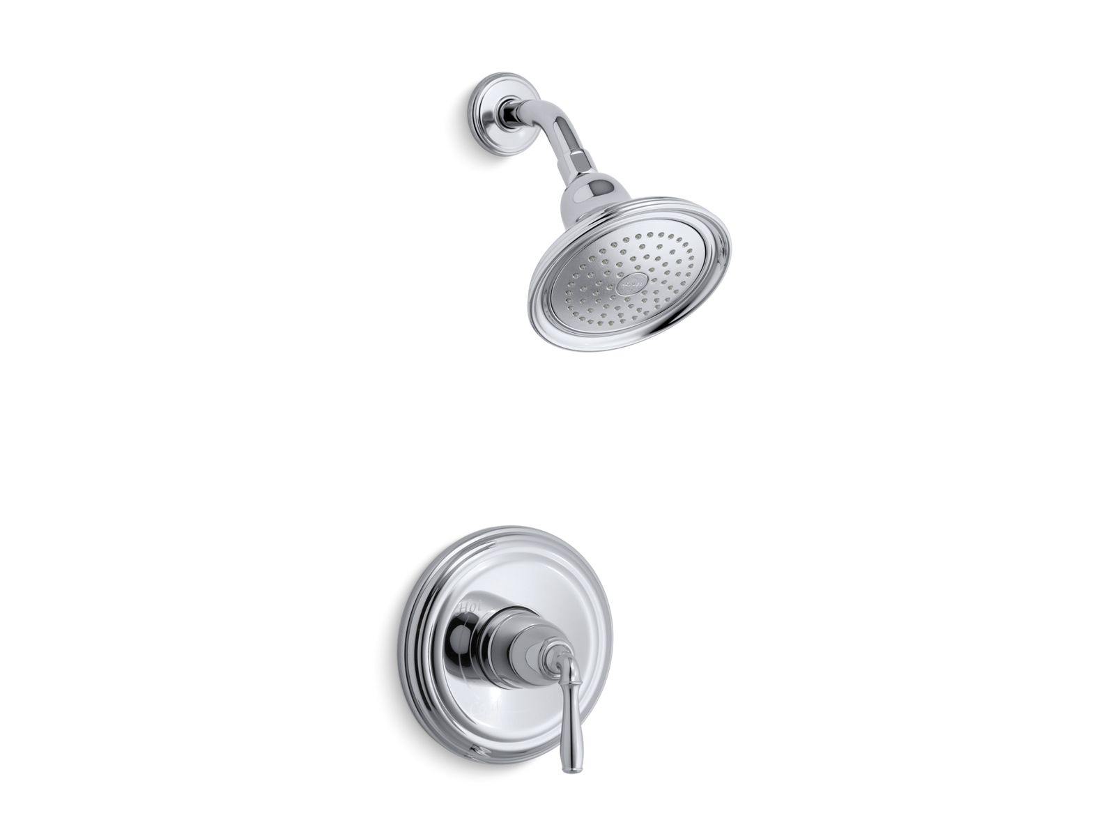 K TS396 4E | Devonshire® Rite Temp® Shower Valve Trim With Lever Handle And  2.0 Gpm Showerhead | KOHLER