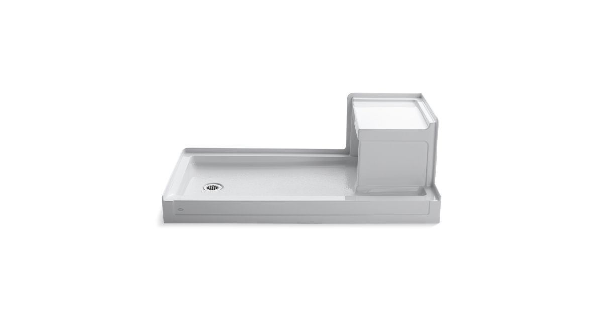 K-1977 | Tresham Shower Base with Seat and Left-Hand Drain | KOHLER