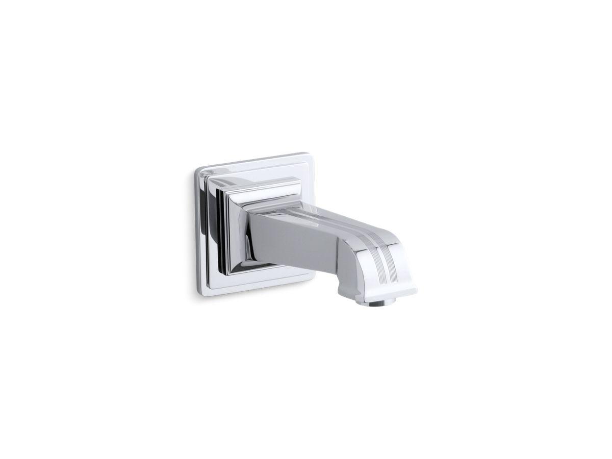 """Pinstripe® wall-mount 6-7/8"""" non-diverter bath spout   Tuggl"""