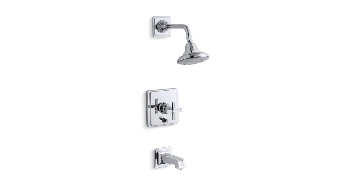K-T13133-3B | Pinstripe Rite-Temp Bath and Shower Faucet Trim | KOHLER