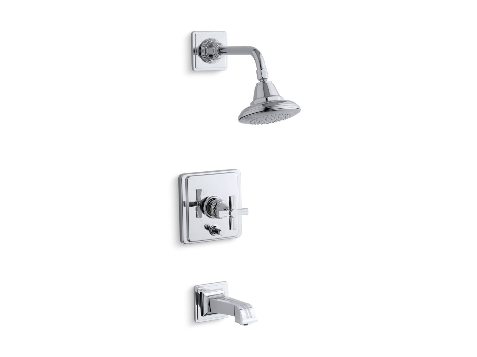 K T13133 3B | Pinstripe Rite Temp Bath And Shower Faucet Trim | KOHLER