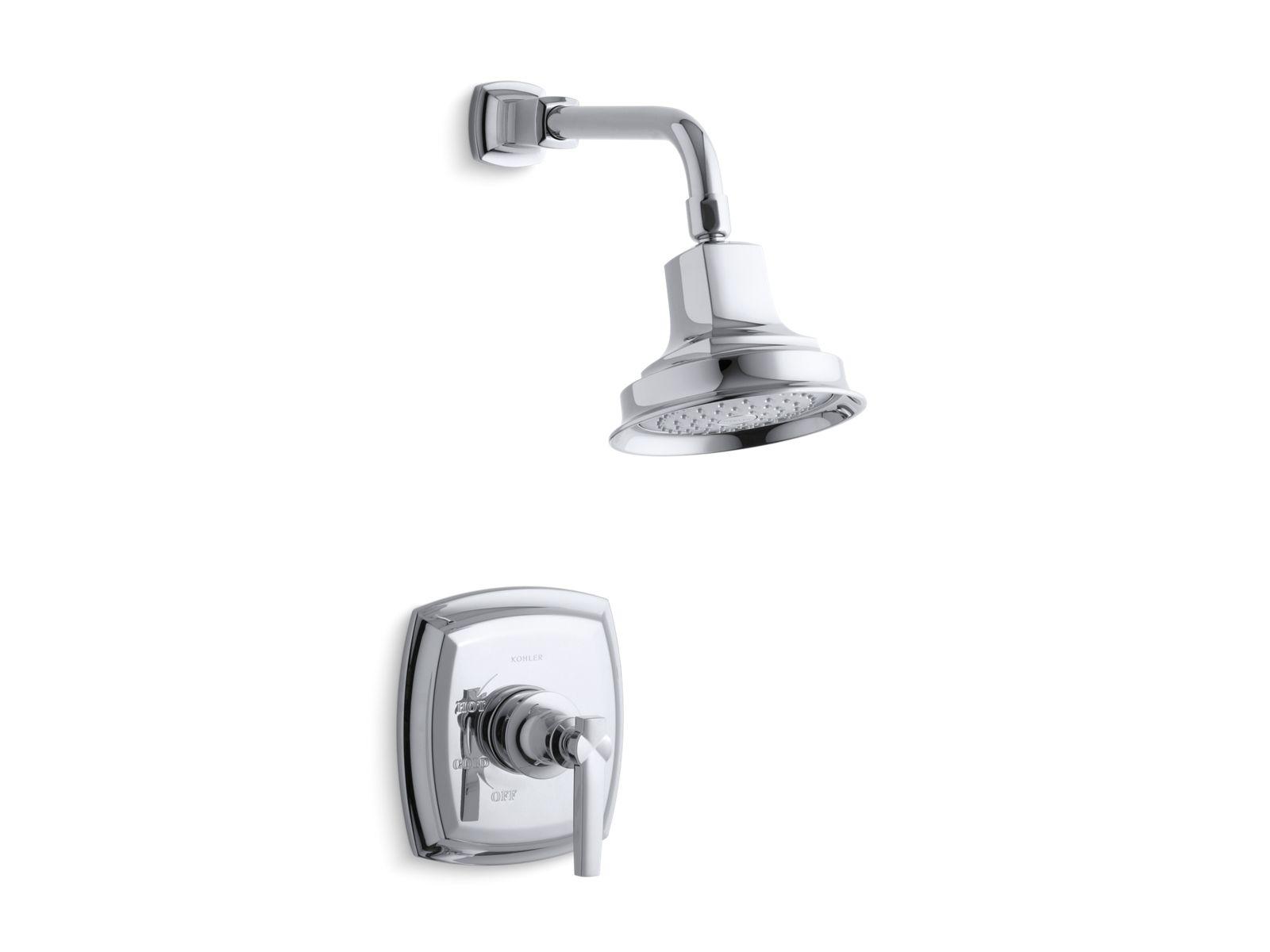 kts162344 margaux ritetemp shower valve trim with lever handle and 25 gpm showerhead kohler