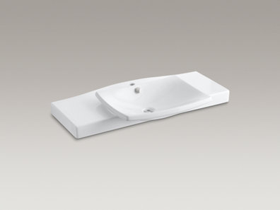 kohler k 19034 1 escale vanity top and basin with 19034