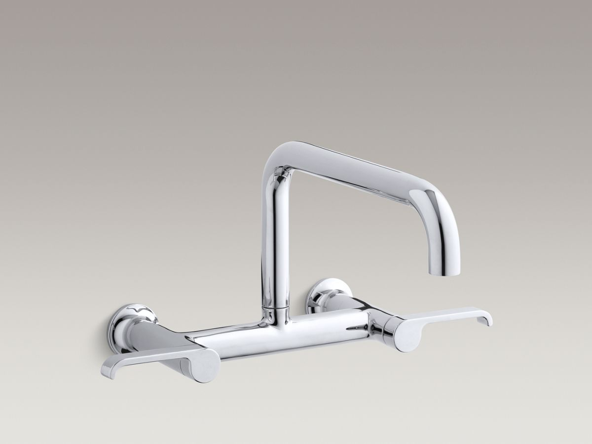 K 6127 4 Torq Wall Mount Bridge Kitchen Faucet Kohler