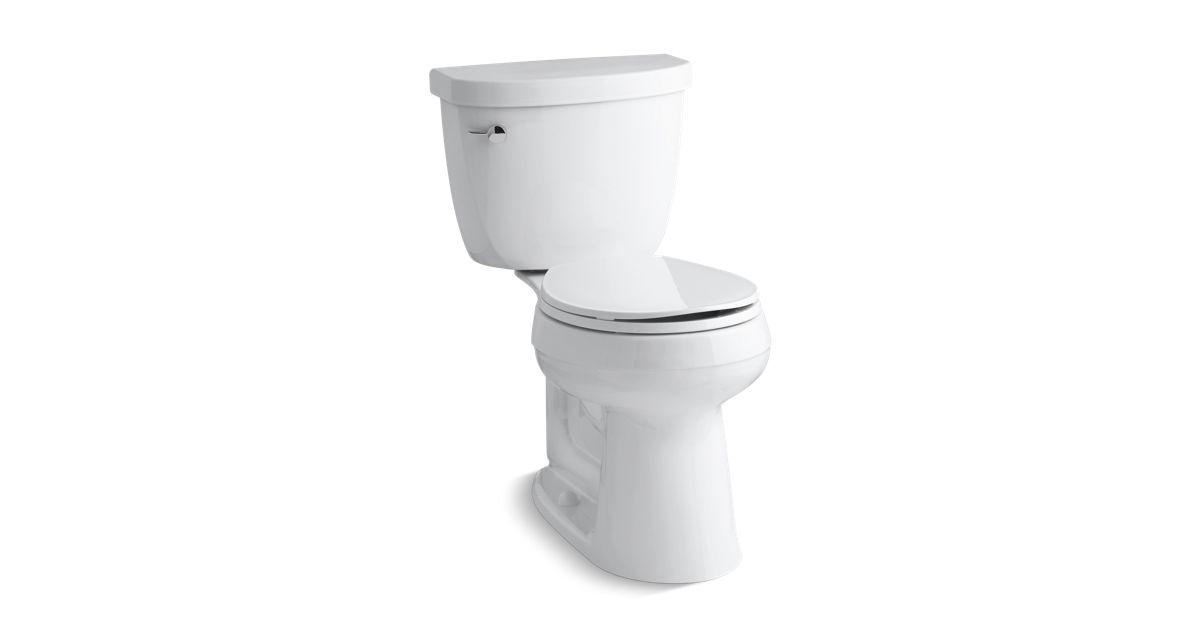 Cimarron Comfort Height Round Front 128 Gpf Toilet K 3887 Kohler