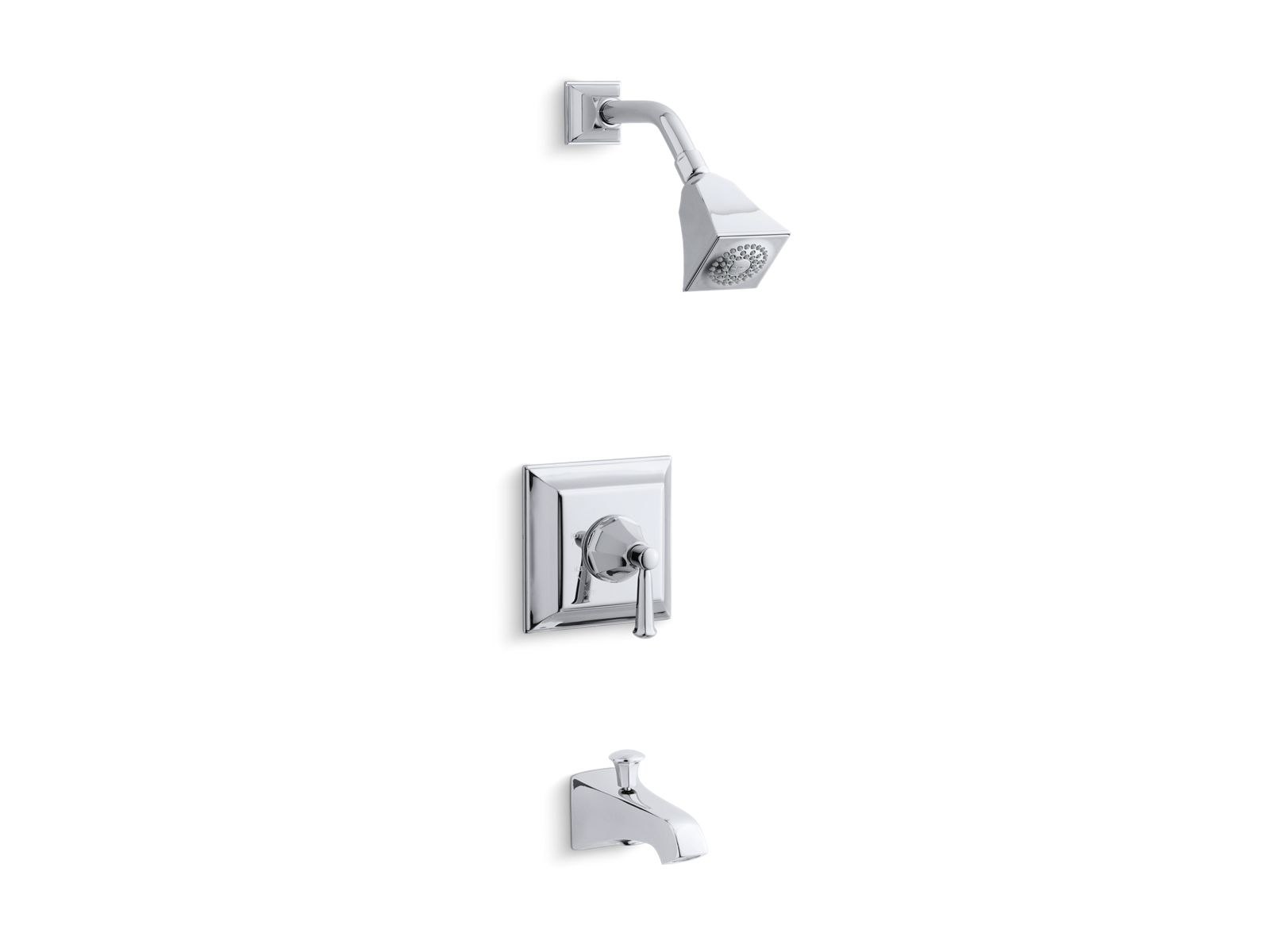 kts4614s memoirs stately ritetemp bath and shower valve trim with lever handle spout and 25 gpm showerhead kohler