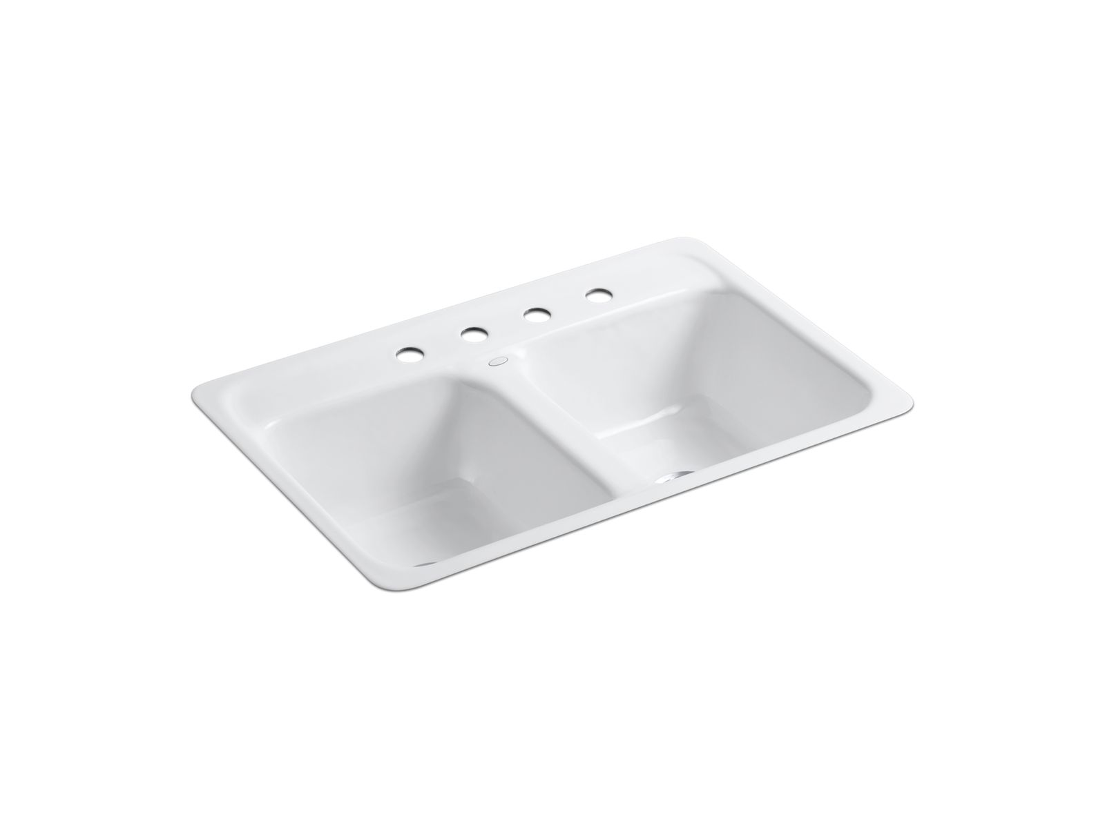 delafield top mount kitchen sink with four faucet holes   k 5950 4   kohler delafield top mount kitchen sink with four faucet holes   k 5950 4      rh   us kohler com