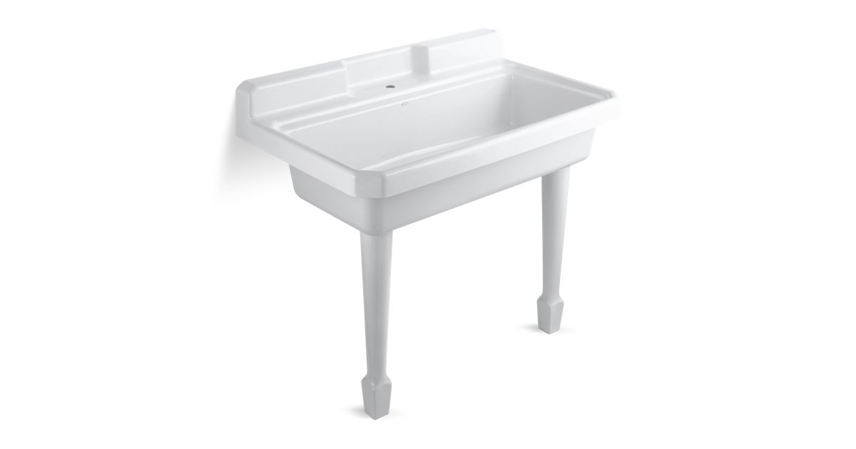 K 6607 1 Harborview Utility Sink With Single Faucet Hole Kohler