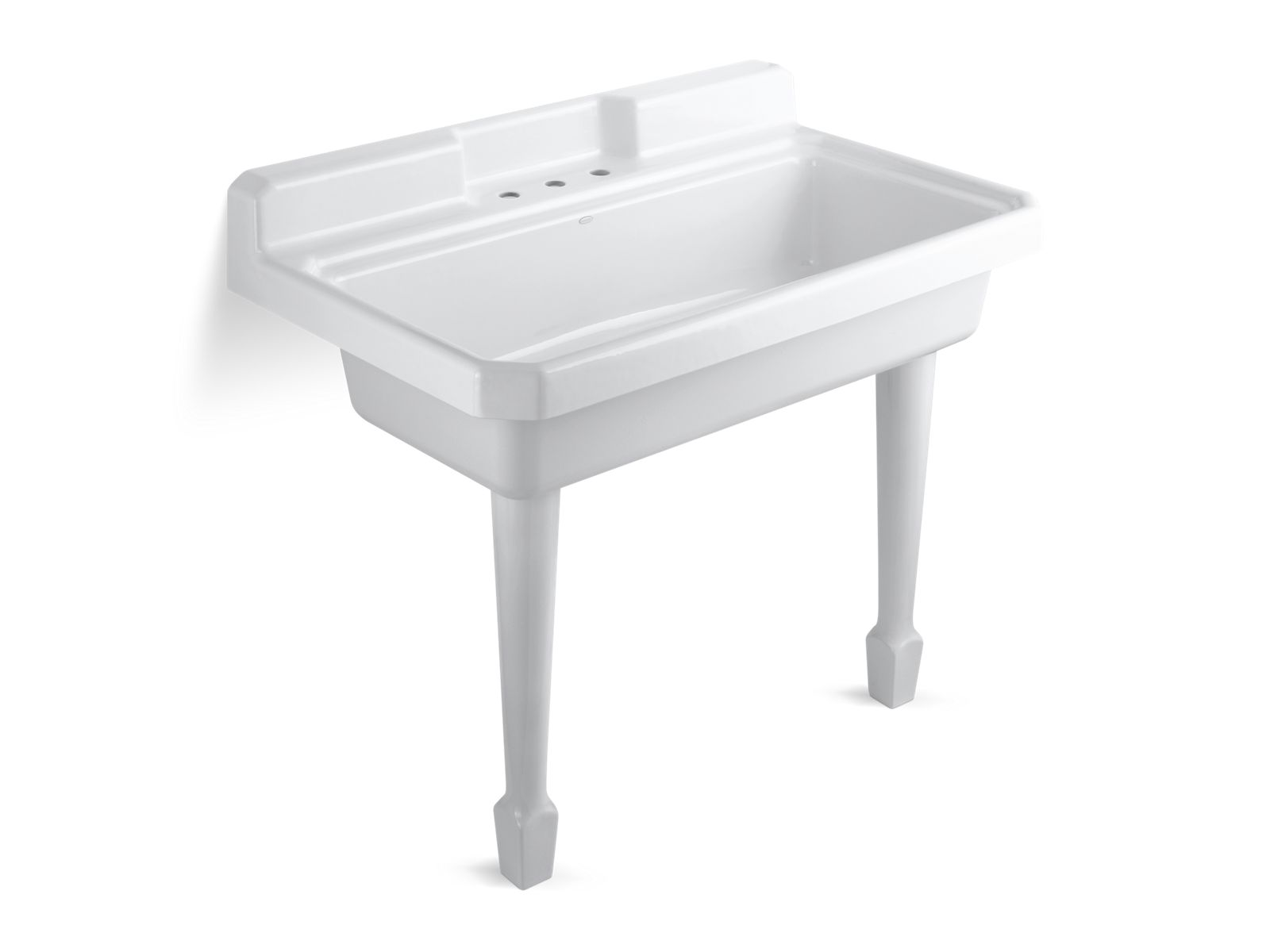 K 6607 3   Harborview Utility Sink With Three Faucet Holes   KOHLER
