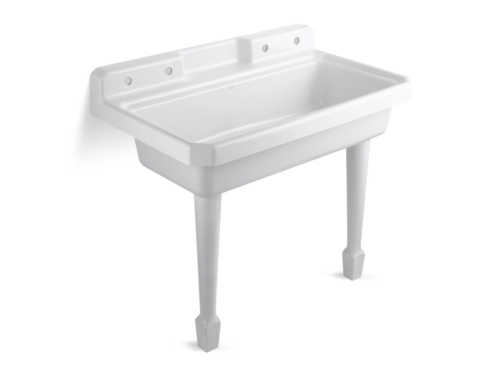 Harborview Utility Sink With Four Faucet Holes | K 6607 4 | KOHLER