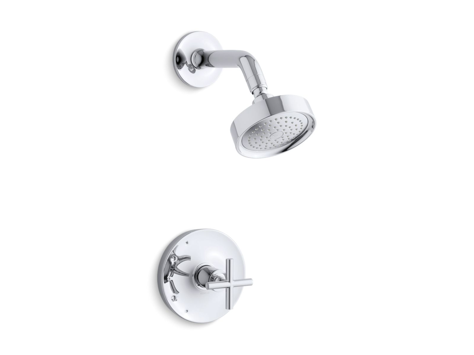 kts144223 purist ritetemp shower valve trim with cross handle and 25 gpm showerhead kohler