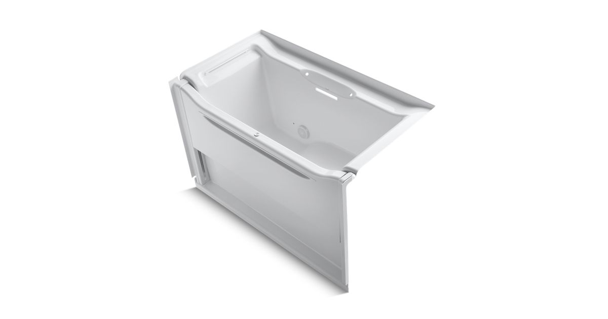 Elevance 5-Foot Rising Wall Bath with Left-Hand Drain | K-1913-L ...