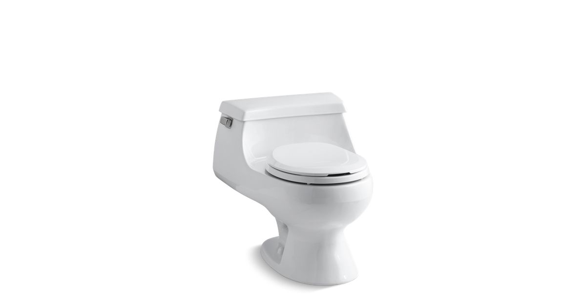 Prime Kohler K 3386 Rialto One Piece Round Front 1 6 Gpf Toilet Pabps2019 Chair Design Images Pabps2019Com