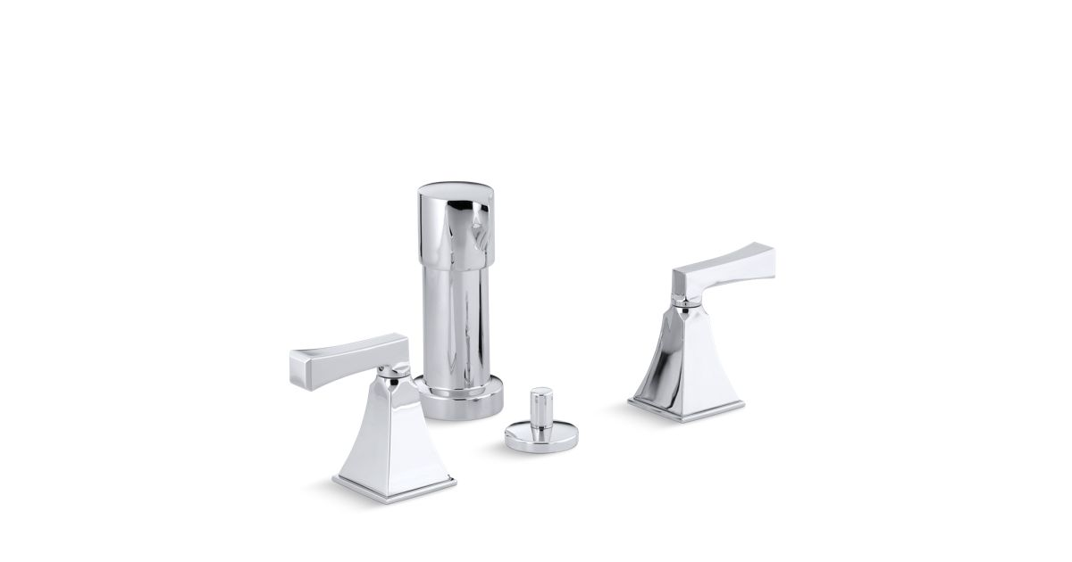 Memoirs Stately Bidet Faucet with Deco Lever Handles | K-470-4V ...