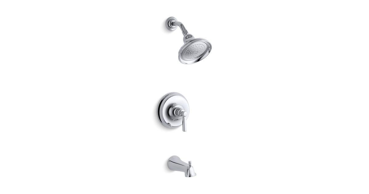 K-T10581-4 | Bancroft Rite-Temp Bath and Shower Faucet Trim | KOHLER
